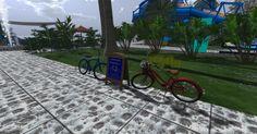 Sede de Universo Creativo SL, área Recreativa (bicicletas para recorrer el sim)