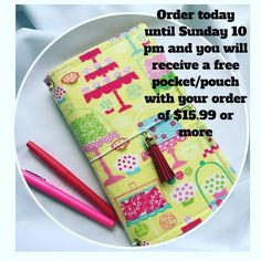 Order yours today until Sunday and receive a free pouch/pocket with purchase of $15.99 or more. #plannergirls #plannergirls #plannergirlproblems  #planningcommunity #plannerorganization #plannergoodies #plannernerd #plannersupplies #plannerjunkie #plannergeek #plannernerd #planneraddiction #plannercuteness #planningahead #plancandee #plannerstickers #filofax #filofaxlover #kikkik #kikkiklove #fauxdori #filofaxnerd #filofaxoriginal #websterspages  #plannerstickers #planningahead #mambi…