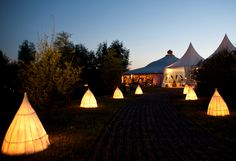 Ground lanterns available for hire through LPM Bohemia