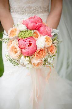 Pastel Bridal Bouquet   BrittRene Photo   Theknot.com