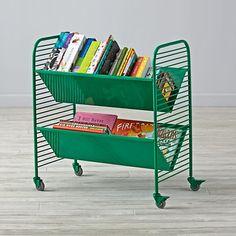 Linear Book Cart (Green)