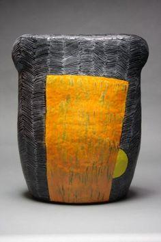 Nina Else  #5 Full Belly  Ceramic outdoor sculpture ceramic art
