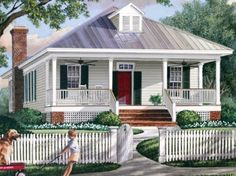 Narrow Lot, Roomy Feel -  Quick Facts Plan #: HOMEPW75751 Style: Tidewater, Size: 1,643 Sq. Ft  Width: 31' Depth: 64' Stories:1, Baths: 2,  Beds: 3  1/2 baths: 0