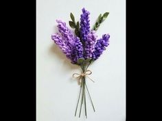 Handmade lavender flowers-How to make lavender felt flower Lavender Buds, Lavender Flowers, Felt Flowers, Easy Origami, Plant Hanger, Embroidery, Paper, Google, Youtube