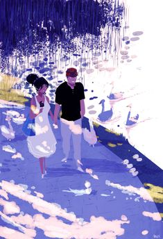 Each paintings tells a complete story.  :Pascal Campion