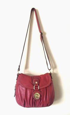 805601b192 London Fog Purse Red Simulated Leather Saddle Shoulder Crossbody Bag   LondonFog  ShoulderBag Leather Saddle