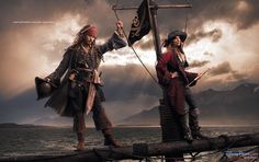 "Johnny Depp & Patti Smith as pirates in  ""Pirates of the Caribbean: On Stranger Tides"" , Annie Leibovitz/Disney"