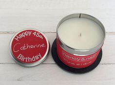 Birthday Scented Candle Gift Personalised Candle Gift