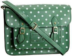 Buy New: £16.99 - £25.99 [UK & Ireland Only]: Lydc Women's Sara Vintage Satchel: Green For St. Patrick's Day