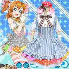 Lovelive school idol Kousaka Honoka Maid Lolita Uniform Dress Cosplay Costume