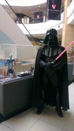 Vader en la convención de cómic en el village plaza #ecuador