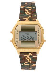 asos digitale armbanduhr mit retrodruck