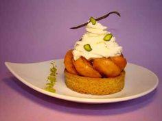Recette - Tartelette aux abricots caramélisés et vanille, pistaches vertes, et crème mascarpone abricot calisson   750g