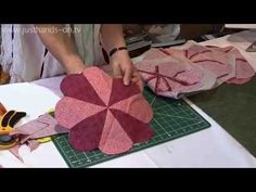 Rounded edges tip for your Dresden Plate from Jennie Rayment - YouTube