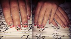 Awesome nails for Halloween - The Walking Dead. By Esy Floresy