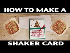 Stamping Jill - How To Make A Shaker Card, EASY! - YouTube