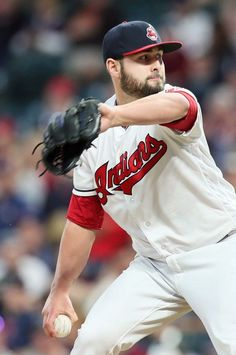 Cleveland Indians relief pitcher Nick Goody pitched a shutout 9th inning against the Oakland Athletics at Progressive Field, Cleveland, Ohio, on May 30, 2017. Goody had not given up a run this season yet. (Chuck Crow/The Plain Dealer). Indians won 9-4