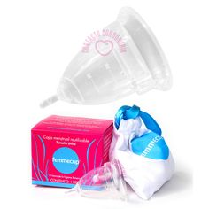 $450 Femmecup / Copa menstrual hecha con silicón de grado médico avalado por la FDA (Food and Drug Administration de EUA) Libre de metales pesados, BPA o sustancias alergénicas / Unitalla / Largo: 5cm / Diámetro 4.5cm / Capacidad: 30ml / Ápice: Tallo / Origen: Inglaterra / Color: Transparente