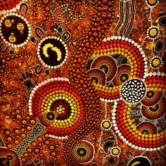 If I had a long hallway or large open space something like this would be amazing as a floor feature instead of floor boards or tiles It would be even more amazing if you. Aboriginal Art Symbols, Aboriginal Dot Painting, Aboriginal Artists, Indigenous Australian Art, Indigenous Art, Australian Artists, Arte Tribal, Tribal Art, Kunst Der Aborigines