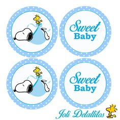 snoopy Baby Shower Cupcake Toppers by JoliDetallitos on Etsy Baby Shower Snacks, Baby Shower Niño, Baby Shower Diapers, Baby Shower Games, Baby Shower Parties, Shower Party, Baby Snoopy, Snoopy Party, Baby Shower Cupcake Toppers