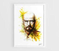 Heisenberg Breaking Bad TV series  A3 Art Prints of by NazarArt, $20.00