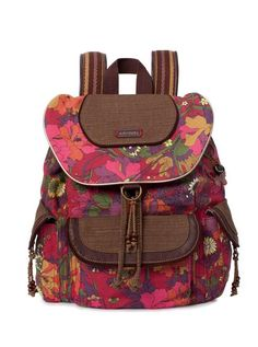 Strap on the flap backpack in one of the artist circle prints to really make a statement. Super easy to carry with a ton of function, it's perfect for back to school or back to work.