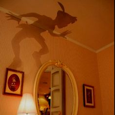 Peter Pan's shadow...perfect for a tinker bell nursery!