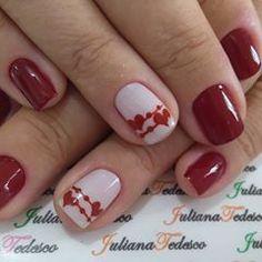 #❤️#nails #unhasdodia #unhasdasemana Gel Nails, Nail Polish, Blue Nails, Winter Nails, Nailart, Nail Designs, Women's Fashion, Makeup, Accessories