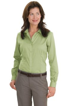 Ladies Shirt, Non-Iron Button-Down at True to Size Apparel. Buy the best Ladies button down shirts at wholesale prices. Compare styles on Ladies button down shirts and save online.
