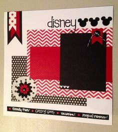 cute Disney Scrapbook Page