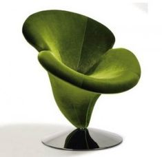 Plush Flower Power Chair via padstyle... comes in green, purple and black. I'll take purple, for the salon!