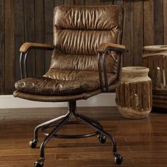 Hedia High-Back Leather Executive Chair
