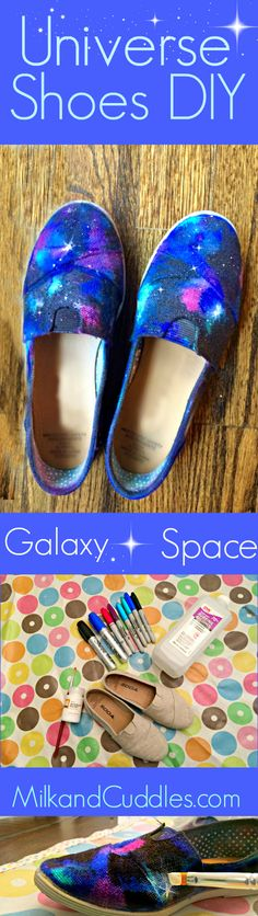 WOW! Using Sharpies, Rubbing Alcohol, and Canvas shoes - this lady makes a Universe on her shoes! Pinning for a project with the kids - love how easy it is! Galaxy Shoes!