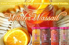 Pink Zebra Recipes- Winter Wassail.  Featuring: Farm House Cider; All Spicy; Orange Slices and Spiced Vanilla