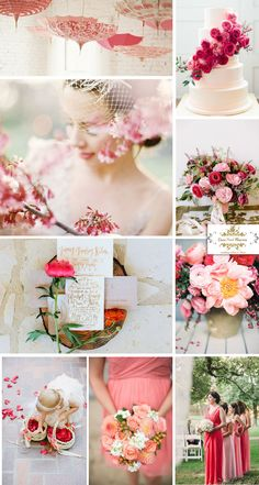 2015 spring Strawberry-Ice red wedding color ideas