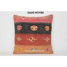 kilim pillow case handembroidery bohemian pillow