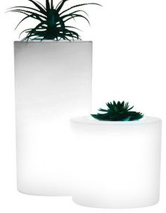 Tubini Lighted Indoor-Outdoor Planter - contemporary - outdoor planters - Home Infatuation