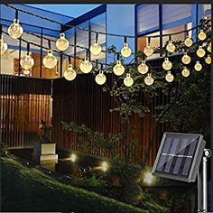 Nasharia LED Solar Lichterkette mit LED Kugel 6.5M 30 LEDs 8 Modi IP65 Wasserdicht Warmweiß Lichterkette mit Lichtsensor Kristallbälle Beleuchtung für Garten Terrasse Hof  Haus Party - 13.99 - 4.3 von 5 Sternen - Lichterkette Herbst 2019