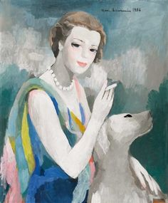 by marie laurencin - portrait de marcelle dormoy (1895-1976) get a 30th year portrait made