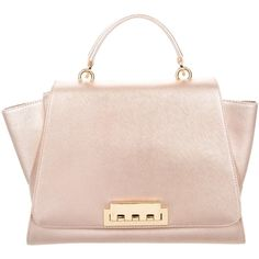 Pre-owned ZAC Zac Posen Eartha Satchel (3,235 MXN) ❤ liked on Polyvore featuring bags, handbags, pink, metallic purse, pink hand bags, top handle satchel handbags, zipper purse and satchel handbags