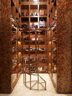 Jonathan Adler :: Interior Design  Amazing tortoise shell closet. I bet even Kanye has not thought of this.