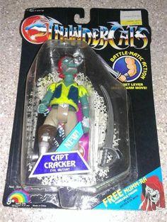 1986 Thundercats Capt Cracker Action Figure Good New on Card LJN Battle Matic