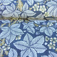 William Morris Linen Print Bramble Indigo