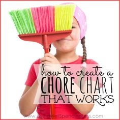 Wondering how to create a chore chart that actually works? Here are four simple steps you can take to create an effective DIY chore chart for kids. Chore Chart Kids, Chore Charts, Cleaning Charts, Cleaning Routines, Cleaning Checklist, Cleaning Tips, Kids And Parenting, Parenting Hacks, Chores And Allowance
