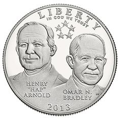 No Longer Available - The 2013 5-Star Generals Commemorative Proof Clad Half-Dollar – the perfect gift for friends and loved ones with military service!