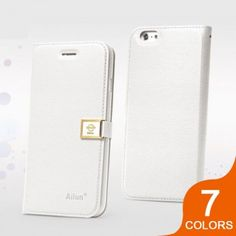 Ailun High Quality Shell Flip Leather Case with Clip for iPhone 6: $9.99