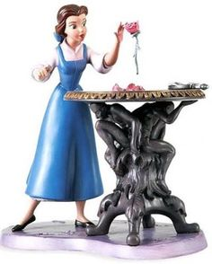 'Forbidden Discovery' - Belle with Enchanted Rose figurine (WDCC) from Fantasies Come True