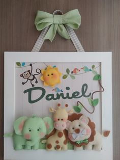 Embellishment of Maternity Door or comic for room decoration with the theme . Baby Crafts, Felt Crafts, Diy And Crafts, Baby Boy Rooms, Baby Boys, Baby Frame, Felt Garland, Doll Sewing Patterns, Felt Baby