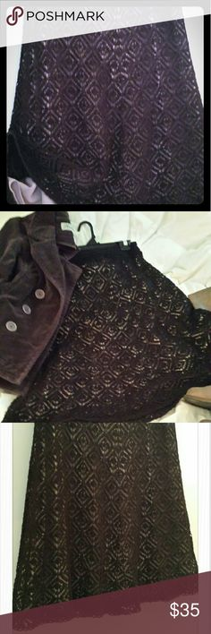 Nice skirt for fall this week only sale Sale It's a cotton crocheted has a lining a rich brown will look wonderful with boots in a little jacket Ann Taylor Loft Skirts Midi