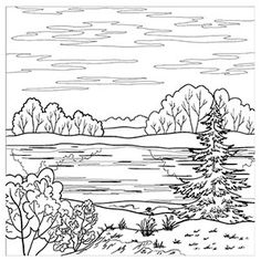 free mountain landscape coloring pages - photo#11